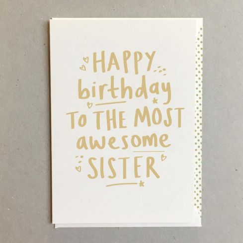 Megan Claire Greetings Cards - Awesome Sister Birthday Card